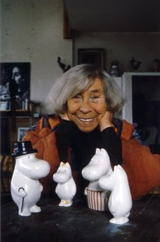 Tove Jansson with Moomins