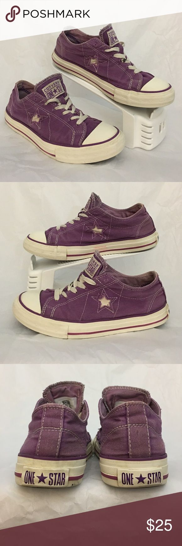 Converse one Star Pre owned in great condition Converse One Star. Fresh out of the washer.  Some US size 7, UK 8, EUR 37.5.  Smoke and pet free house Converse Shoes Sneakers