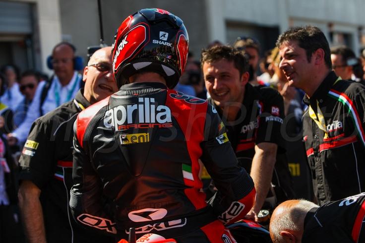 Silvain Guintoli - Team Aprilia - Round Aragon