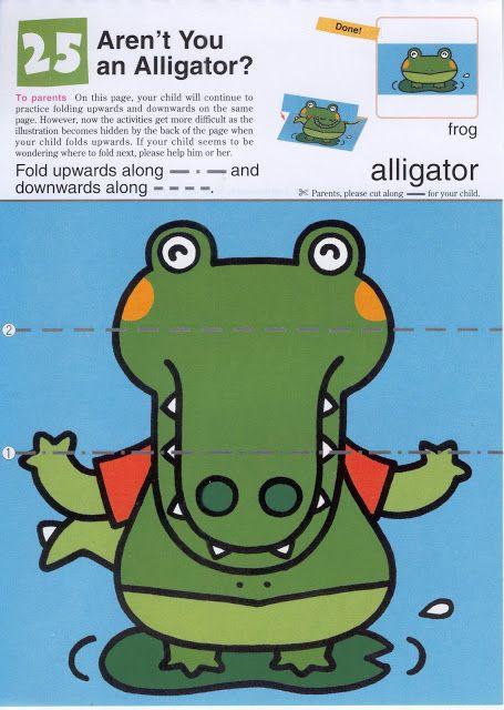 Vouw de krokodil tot een kikker