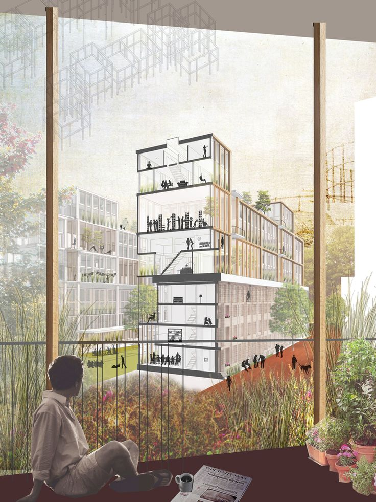 """NLA e o prefeito de Londres selecionam os 10 vencedores do concurso """"Crise Habitacional de Londres"""",Intimate Infrastructures / Natasha Reid Design. Imagem Cortesia de New London Architecture"""