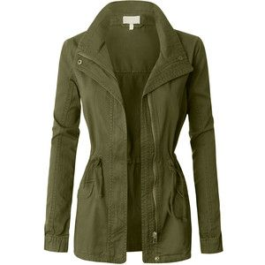 LE3NO Womens Military Anorak Jacket