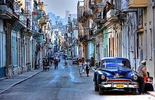 The colonial section of La Habana Vieja or Old Havana