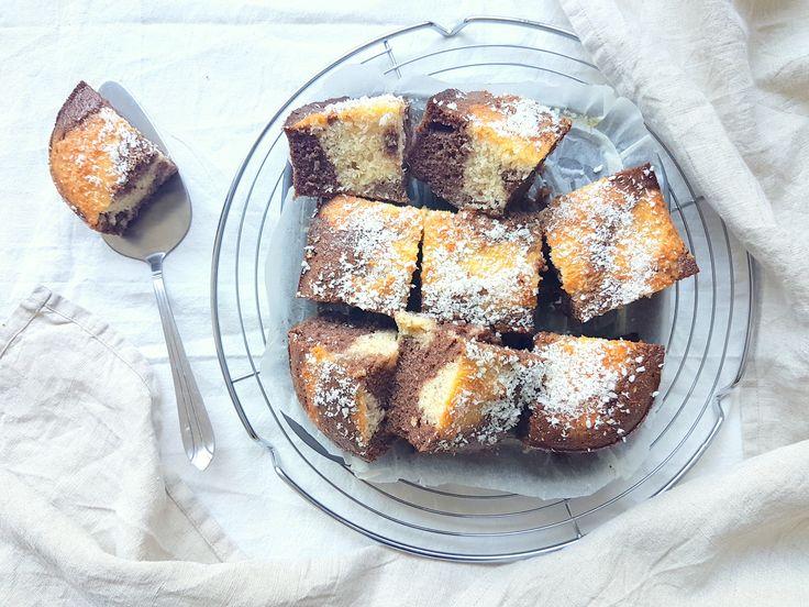 Nicky had deze week het verzoekje voor een chocolade kokos cake! Ik ben zelf ook dol op chocolade en kokos(noten) dus vond het een strak plan :) Dit recept is ook weer super easy om te maken…