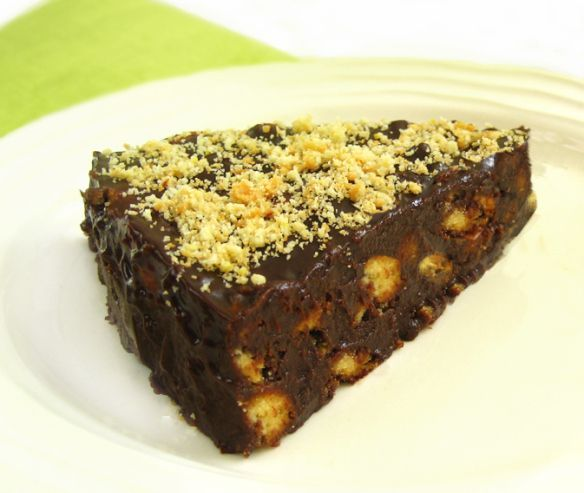 Σοκολατένια τουρτίτσα με νουτέλα και μπισκότα