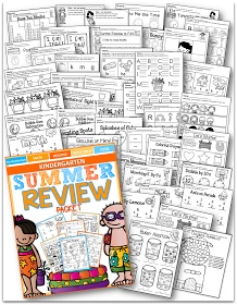 Summer Review Packet for Kindergarten!  (92 pages)