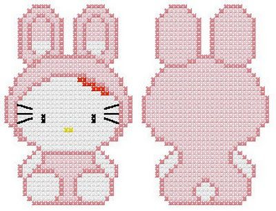 Hello Kitty Rabbit Nice for a front and back on a pillow....