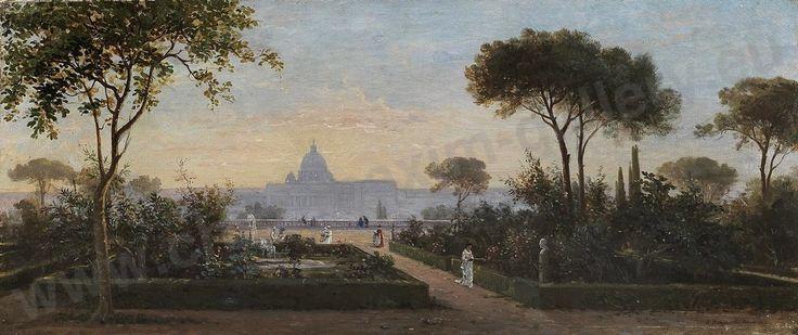 Jean Achille Bénouville - Saint Pierre des jardins du Pincio - Rome 1862 - EN VENTE - ON SALE -