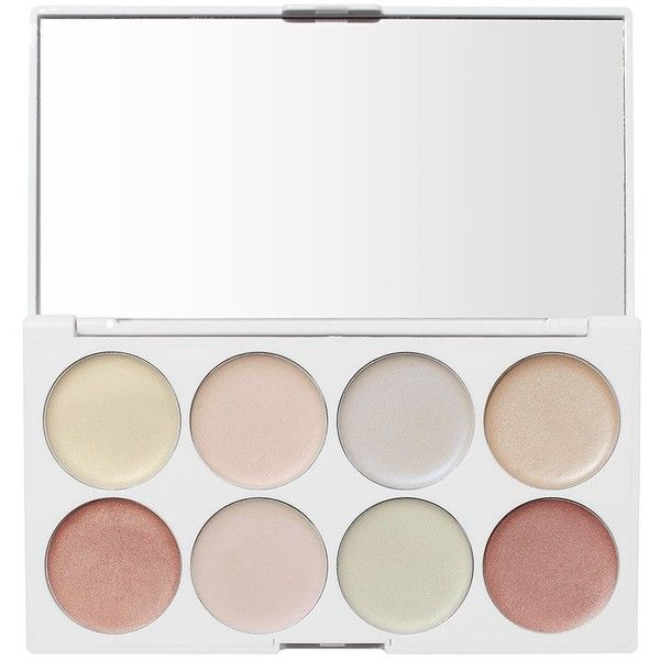 UNICORN GLOW CREAM PALETTE ($16) ❤ liked on Polyvore featuring beauty products, makeup, face makeup and palette makeup