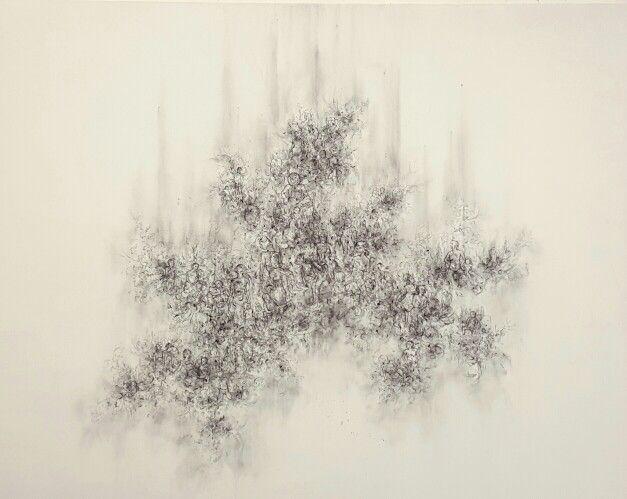 Graphite and charcoal drawing Jayne Anita Smith