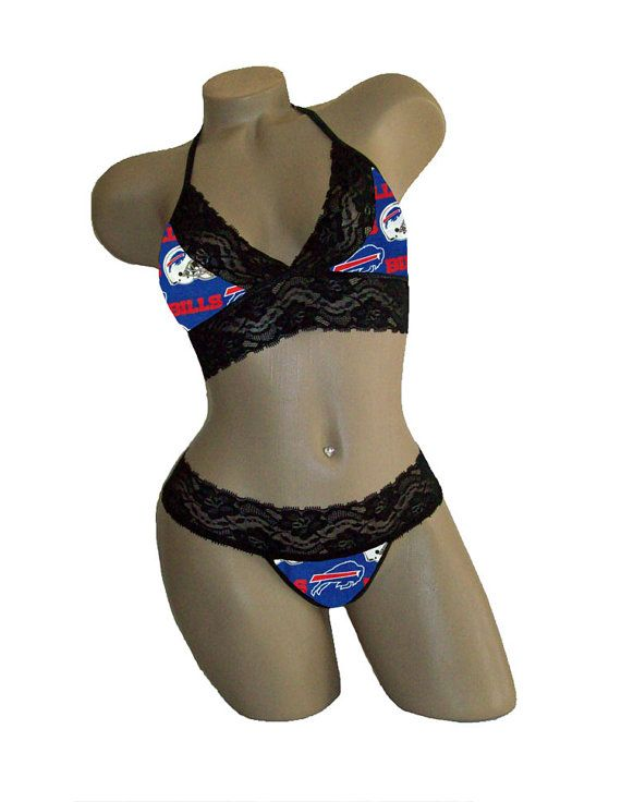 Sexy Buffalo Bills NFL Lingerie Black Lace Cami by SexyCrushes