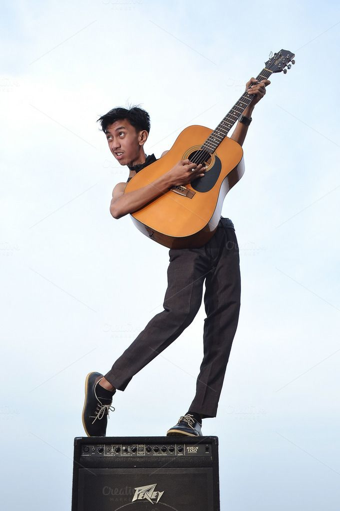 man with guitar by bastera on @creativemarket