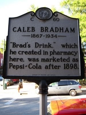 New Bern, NC birthplace of Pepsi Cola, created by Caleb Bradham