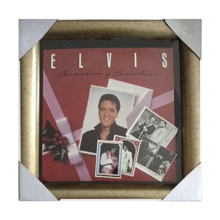 Elvis 1982 Christmas Record Collage