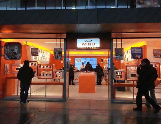 Wind - un nuovo negozio a Roma alla stazione Termini