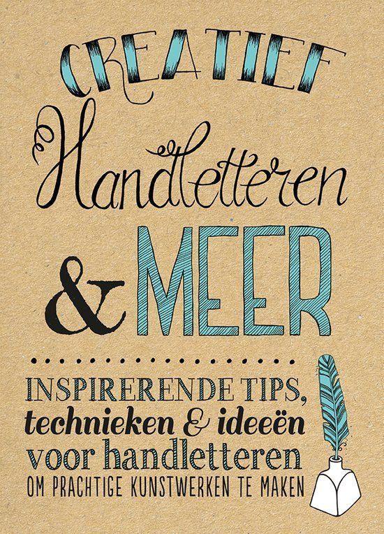 Boek Creatief Handletteren en meer + 3 x  Gelpennen + 1 x Tweezijdige Kalligrafiepen