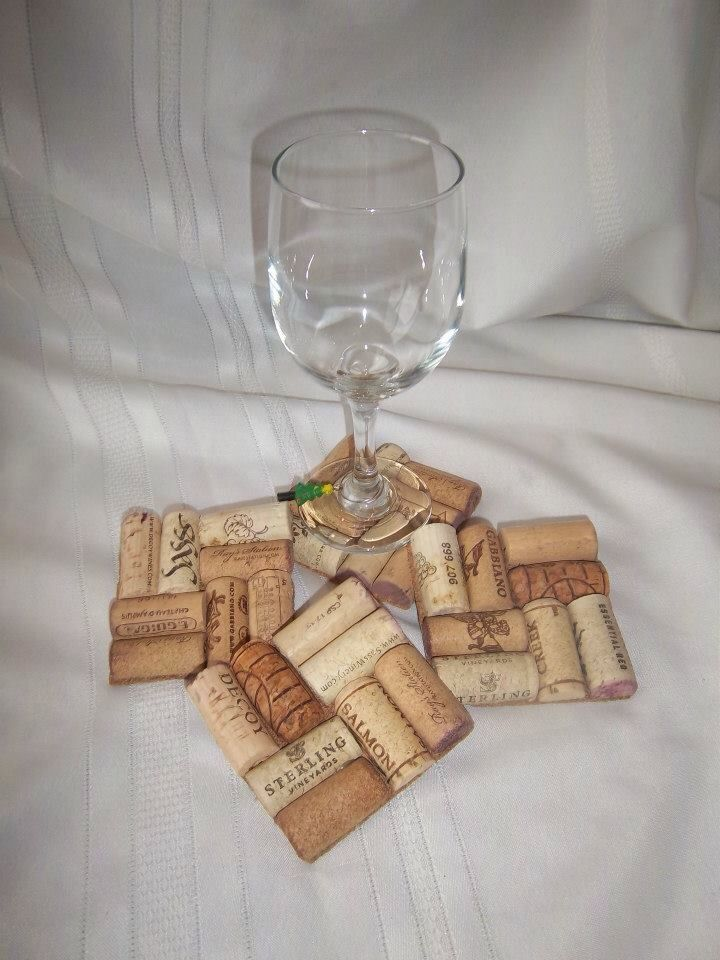 Wine cork coasters diy craft my crafts pinterest for Cork coasters for crafts