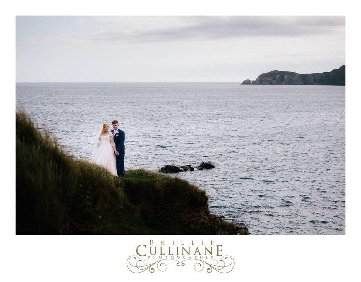 Kate Myra Loughnane + Adam Loughnane at Sandy Cove Castletownshend, married at Castletownshend Castle