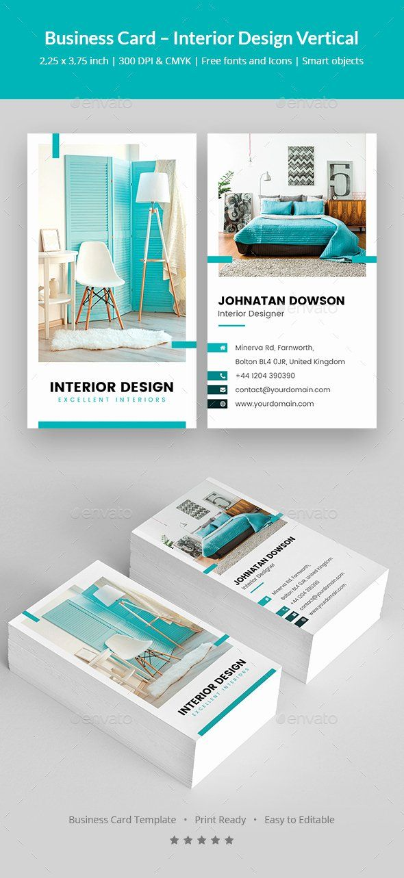 Interior Design Business Cards Elegant Business Card Interior Design Vertical By Artbart Interior Designer Business Card Business Card Design Business Design