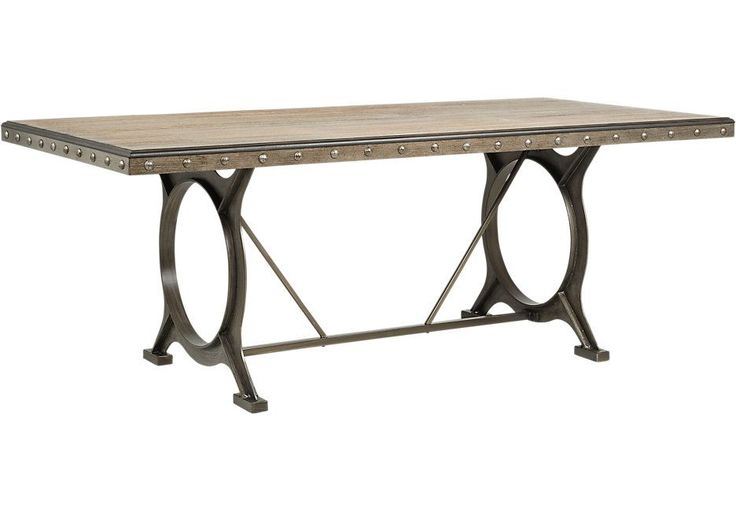 Ross Bridge Brown Rectangle Dining Table  - Dining Tables Dark Wood