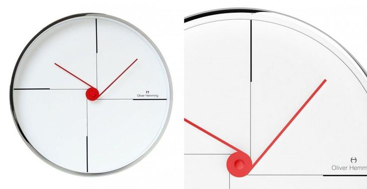 Wall Clock W300S9W by Oliver Hemming