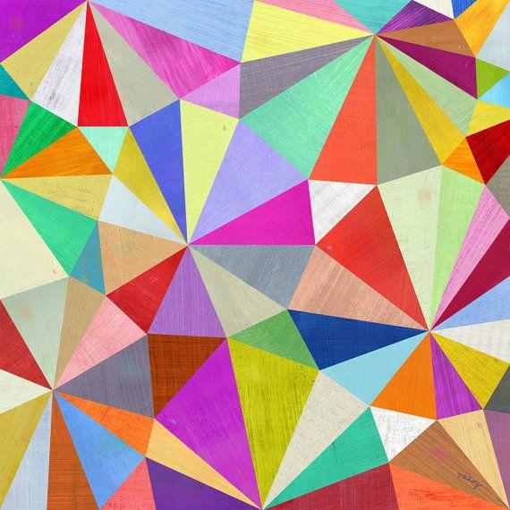 "Arte geométrico caleidoscopio imprimir 12 ""x 12"""