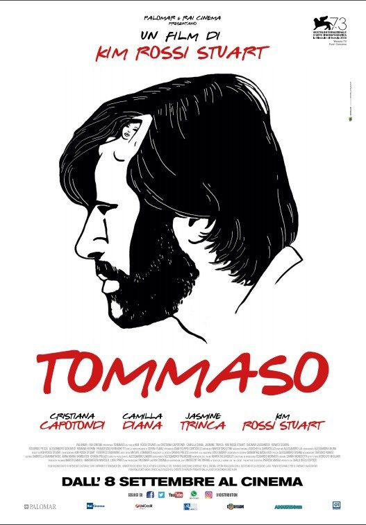 Tommaso by Kim Rossi Stuart. #Venezia73 Out of Competition. Poster.