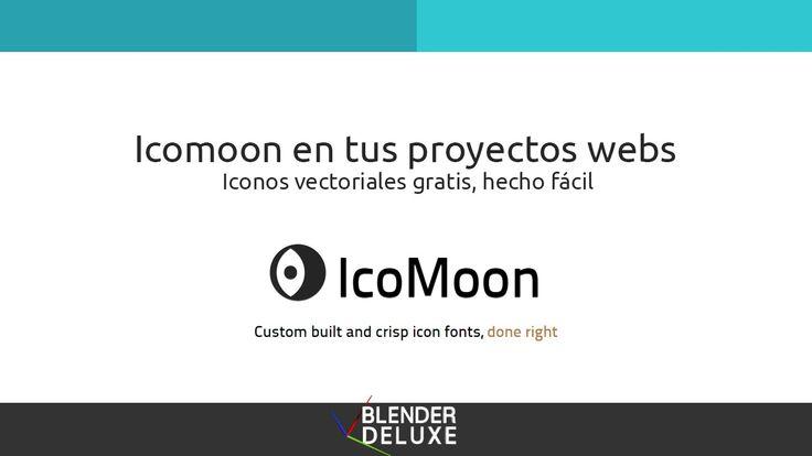 Iconos vectoriales en tu web con Icomoon de forma fácil