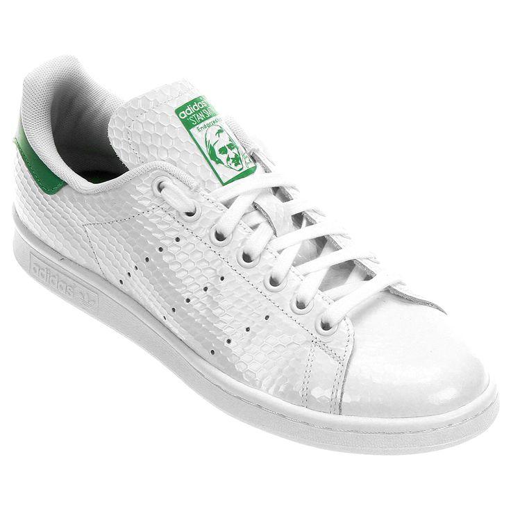 ceb0ac00da Tênis Adidas Superstar Supercolors Branco Verde Tênis Adidas Stan Smith W  Branco e Verde