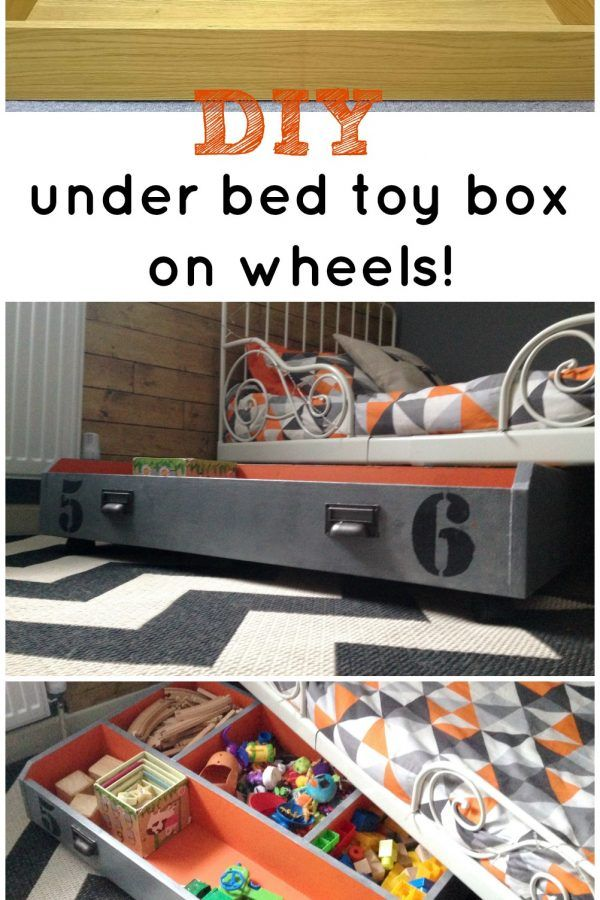 TOY STORAGE ORGANIZATION WITH A DIY UNDER BED PULL OUT BOX