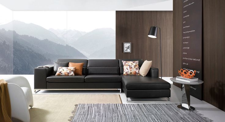 Divani Casa FF525 Modern Brown Leather Sectional Sofa