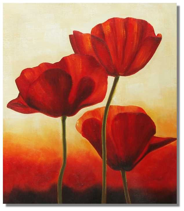 50 best images about di jake talbot is given a painting of - How to paint poppy flowers ...