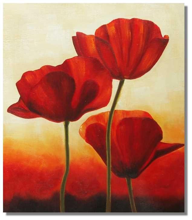 Red Poppy Flower Painting