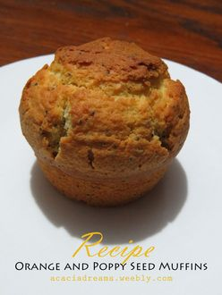Delicious recipe for Orange and Poppy Seed Muffins http://acaciadreams.weebly.com/blog/orange-and-poppy-seed-muffins