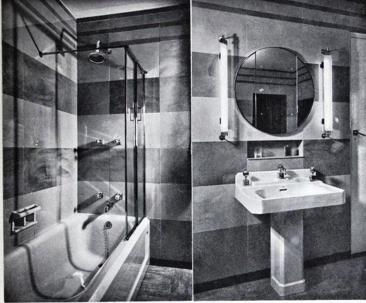 Art Moderne Interiors Featuring Vitrolite; Mies van der Rohe, Gropius | Art Deco Resource