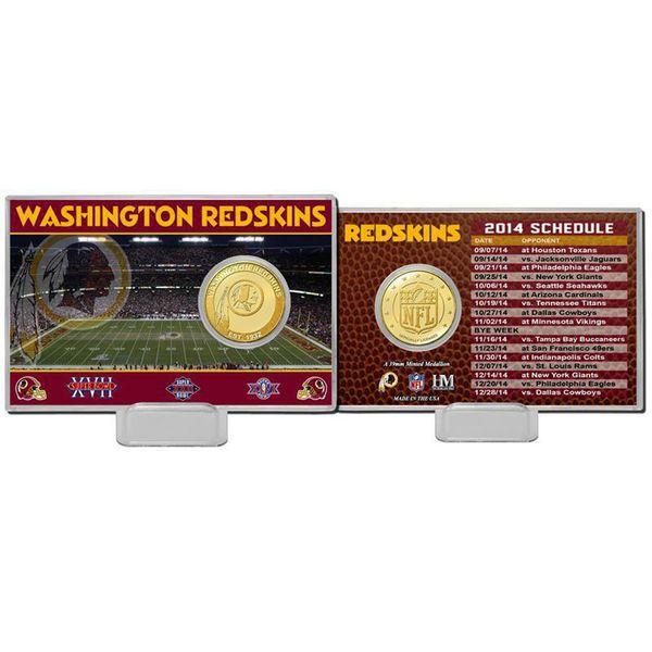 Washington Redskins Highland Mint Schedule Coin Card - $19.99