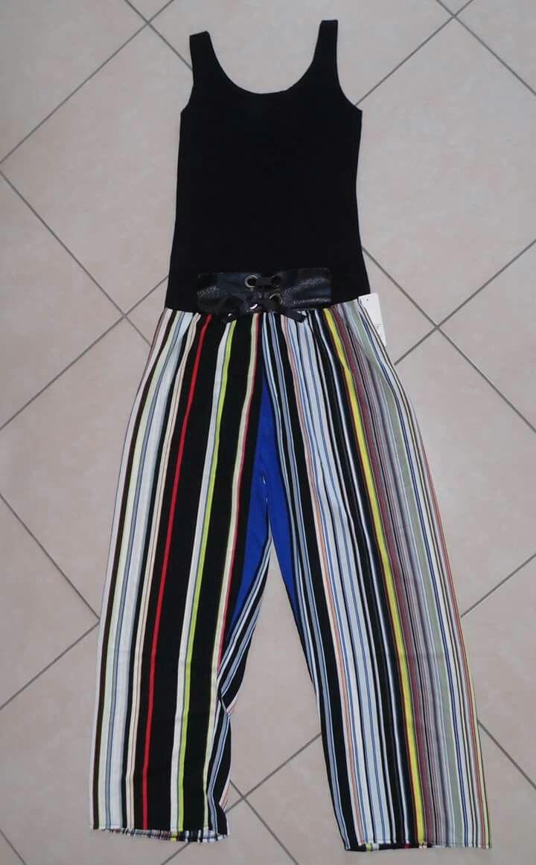 Canotta e pantalone mille righe Colorato TG unica 3293463200 x info