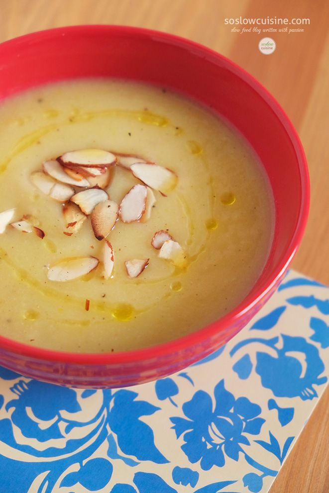 Cauliflower Soup with Truffle Oil and Almonds