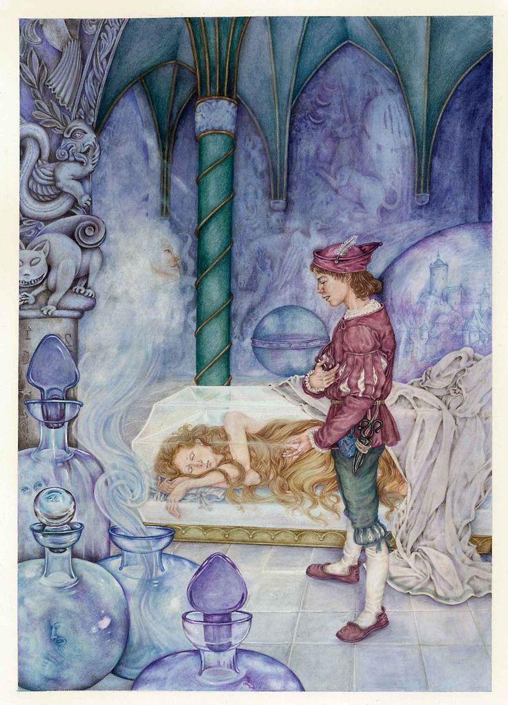 """"""" La bara di vetro"""" F. Grimm   per Edimedia Fi.  Illustrato da Lucia Campinoti"""