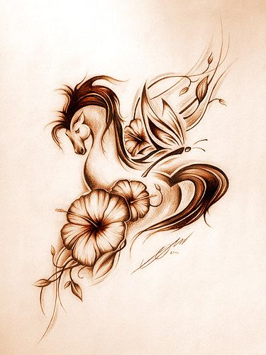 Horse tattoo by ~Clickroom on deviantART