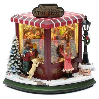Negozio di giocattoli natalizi 20x25x15 cm