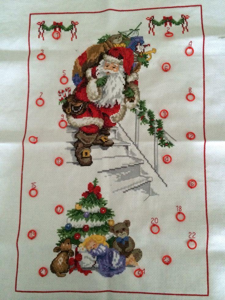Broderet julekalender