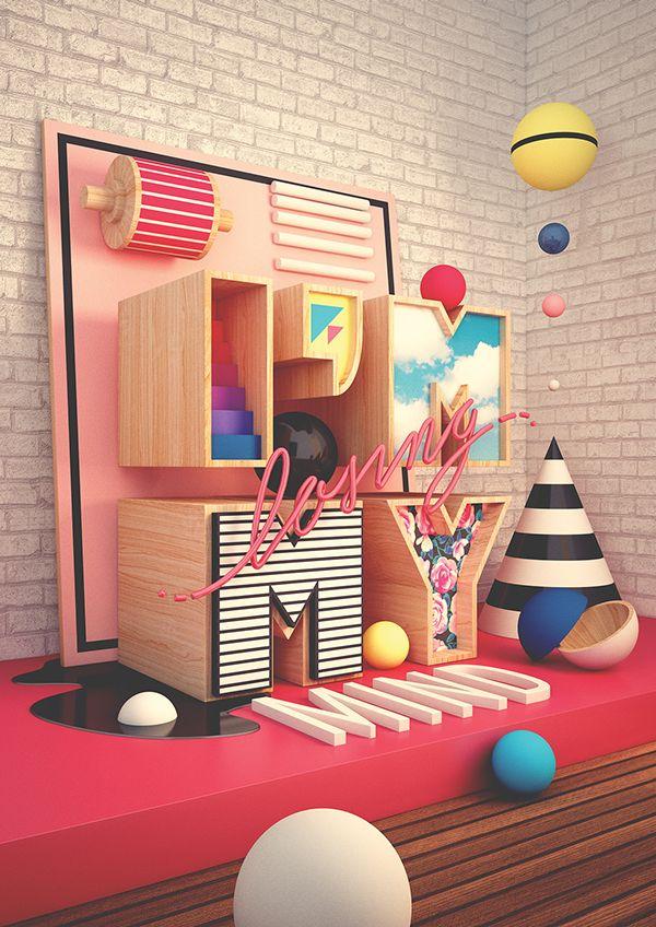 My Mind by Pedro Veneziano, via Behance