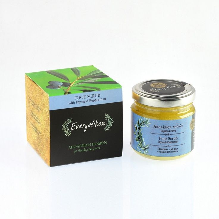 Foot Scrub 100ml With Thyme and Peppermint. Relaxation, Hydration. #Evergetikon