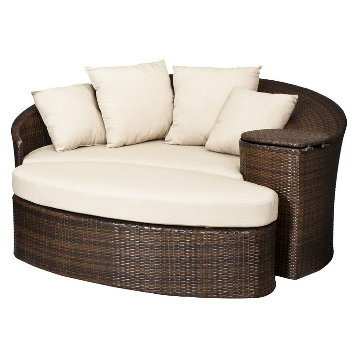 Threshold Rolston Wicker Patio Daybed | Patio | Pinterest ...
