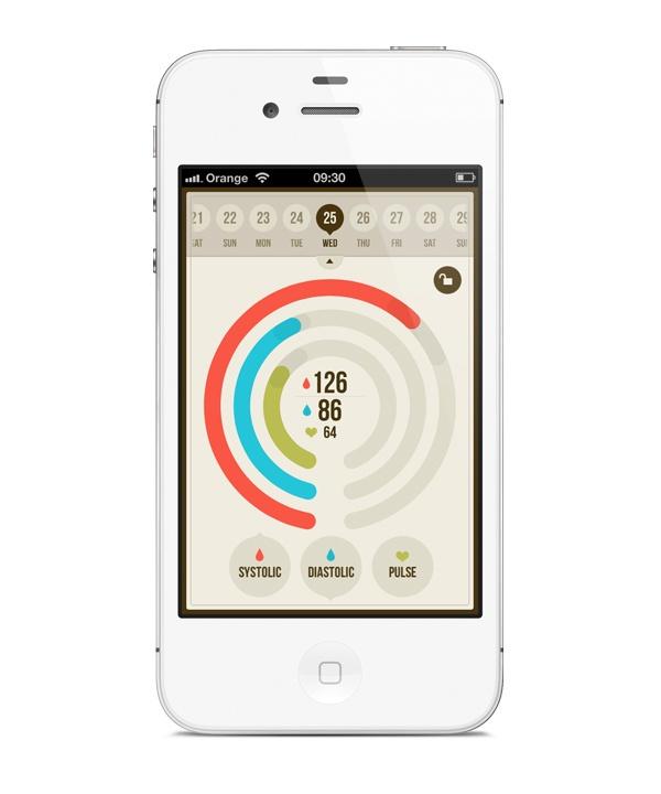 BloodNote / mobile app | Designer: Peter Bajtala - http://www.bloodnoteapp.com: Nice Colors