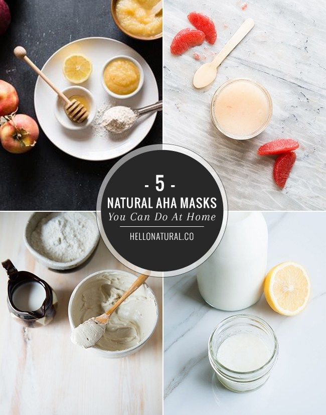 5 Natural AHA Face Masks You Can Make At Home
