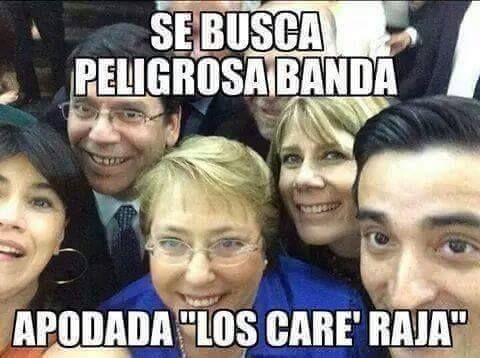 "La banda de ""Los care' raja"""