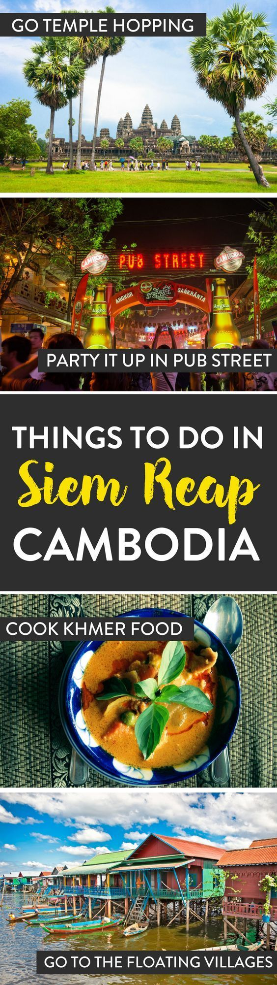 Cambodia Travel | Planning a trip to Siem Reap, Cambodia? Here's our list which has a few of the best things to see and do while in Cambodia.