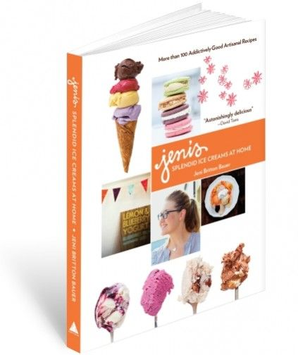 JENI'S SPLENDID ICE CREAMS AT HOME (SIGNED COPY)    $35.00    Jeni's Splendid Ice Creams at Homeis the essential resource for making smooth, scoopable ice creams, yogurts, and sorbets in your own kitchen. The cookbookincludes more than 100 of Jeni's signature recipes -- from Salty Caramel to Queen City Cayenne -- along with color photographs and helpful tips on ingredients and techniques.
